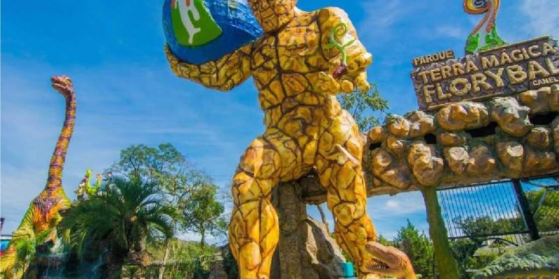 Parque Terra Mágica Florybal - As crianças AMAM!
