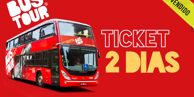Ticket Bustour - 2 dias de uso