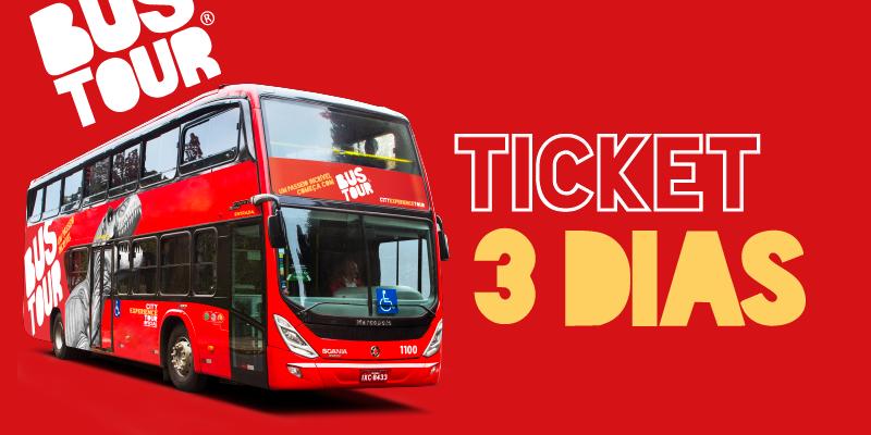 Ticket Bustour - 3 dias de uso